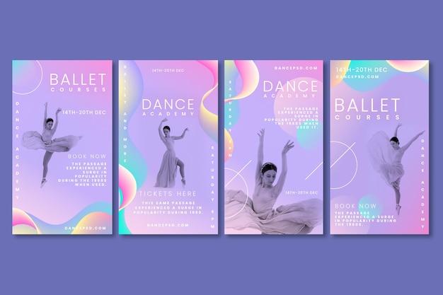 Coleção de histórias dançando instagram