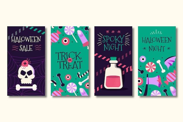 Coleção de histórias de halloween no instagram