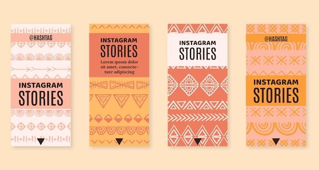 Coleção de histórias de instagram de boho desenhada à mão