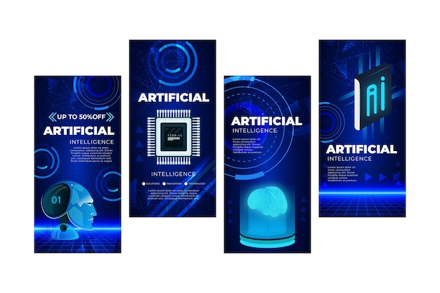Coleção de histórias de instagram de inteligência artificial