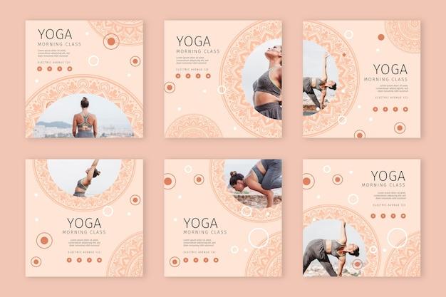 Coleção de histórias de instagram de ioga