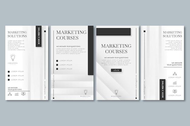Coleção de histórias de instagram de negócios de marketing