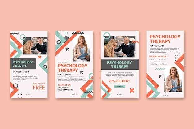Coleção de histórias de instagram de psicologia