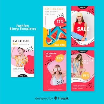 Coleção de histórias de moda venda instagram com foto