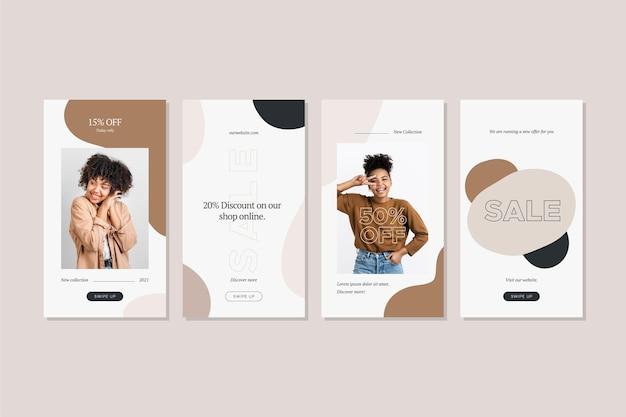 Coleção de histórias de venda de moda criativa