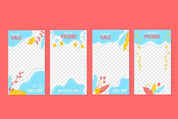 Coleção de histórias de venda de primavera para instagram