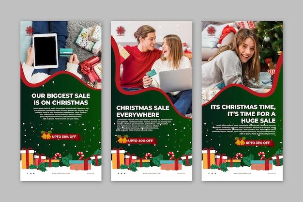 Coleção de histórias de vendas de natal no instagram