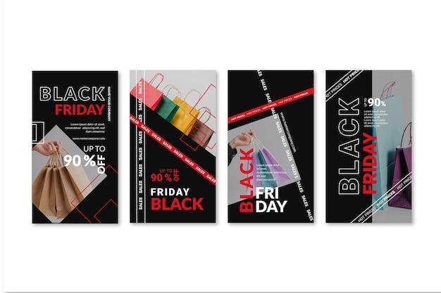 Coleção de histórias do instagram black friday