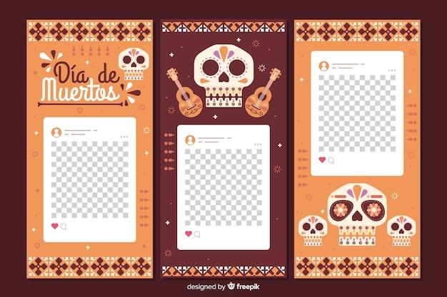 Coleção de histórias do instagram de dia de muertos