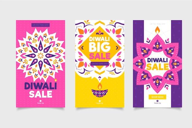 Coleção de histórias do instagram de diwali sale