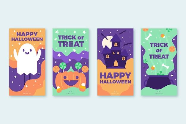 Coleção de histórias do instagram de halloween