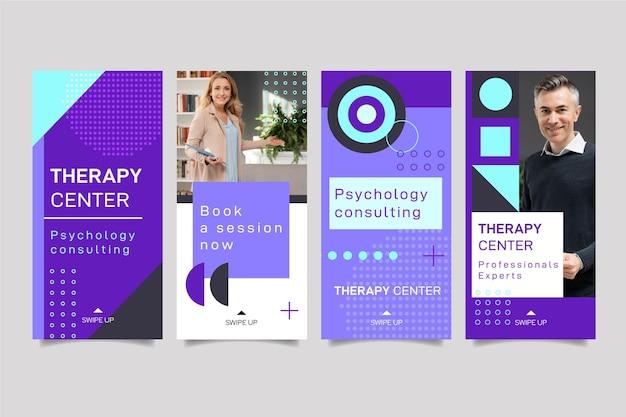 Coleção de histórias do instagram de psicologia