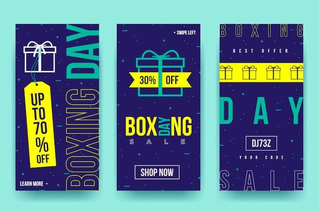 Coleção de histórias do instagram de venda de boxing