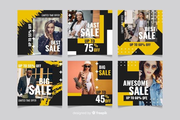 Coleção de histórias do instagram de venda de moda abstrata