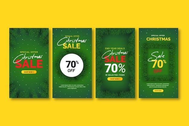 Coleção de histórias do instagram de venda de natal