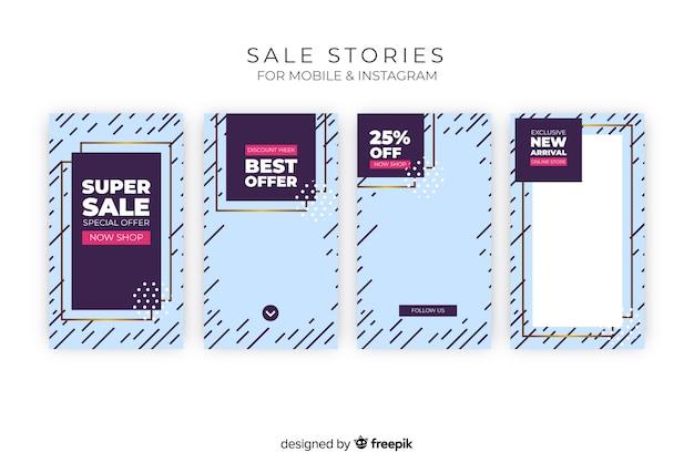 Coleção de histórias do instagram de vendas