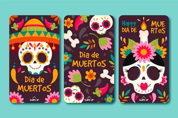 Coleção de histórias do instagram día de muertos