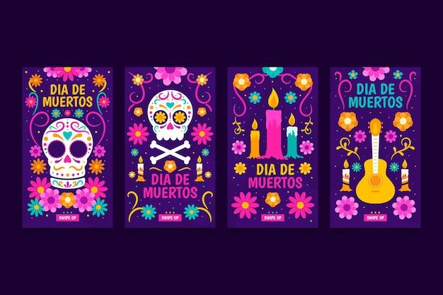 Coleção de histórias do instagram dia de muertos