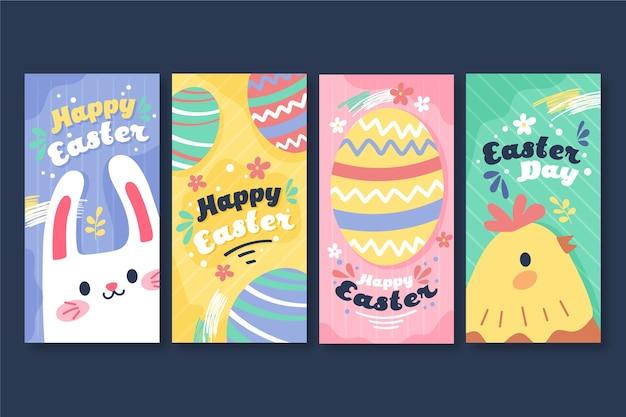 Coleção de histórias do instagram do dia de páscoa