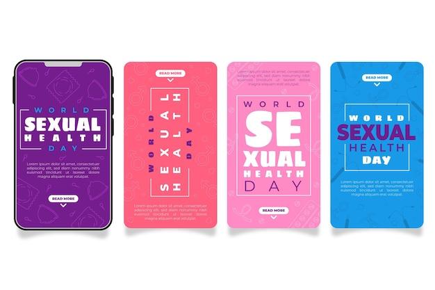 Coleção de histórias do instagram do dia mundial da saúde sexual
