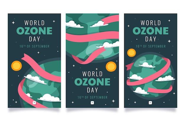 Coleção de histórias do instagram do dia mundial do ozônio