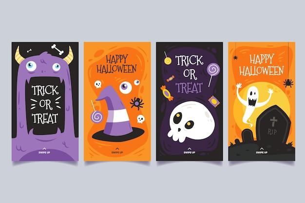 Coleção de histórias do instagram do festival de halloween