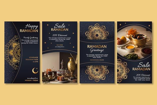 Coleção de histórias do instagram do ramadã