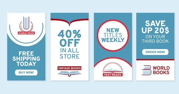 Coleção de histórias do instagram flat shopping