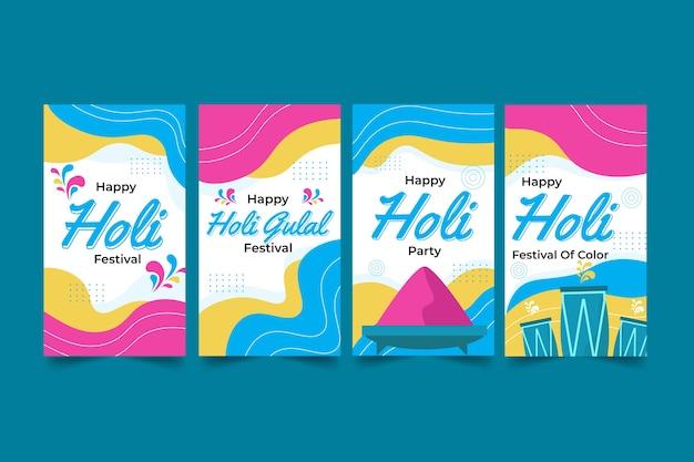 Coleção de histórias do instagram holi festival