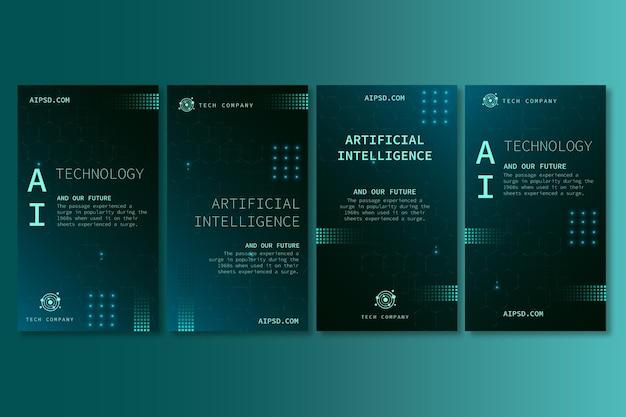 Coleção de histórias do instagram para inteligência artificial