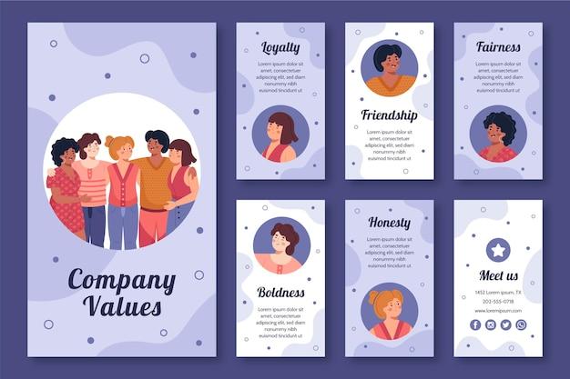 Coleção de histórias do instagram para novos negócios