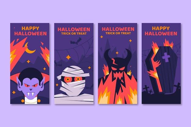Coleção de histórias do instagram para o halloween