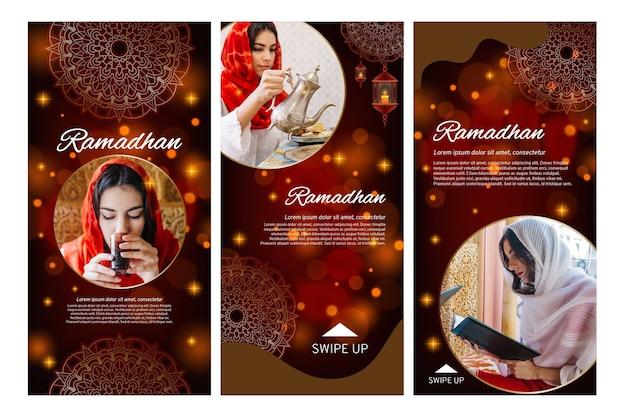 Coleção de histórias do instagram para o ramadã