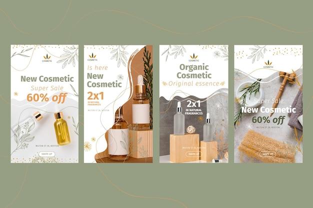 Coleção de histórias do instagram para produtos cosméticos