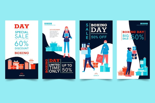 Coleção de histórias ig do boxing day