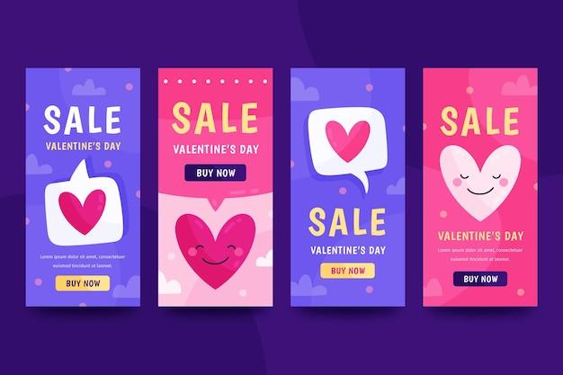 Coleção de histórias instagram de venda do dia dos namorados