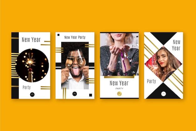 Coleção de histórias para festas de ano novo do instagram