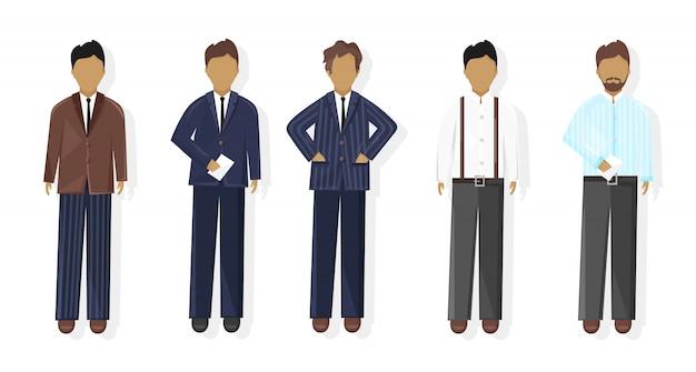 Coleção de homens de negócios
