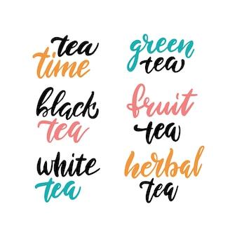 Coleção de hora do chá de letras