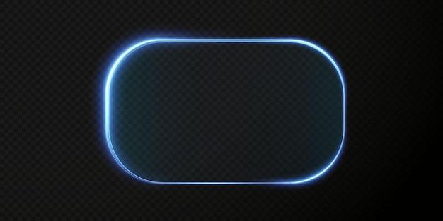 Coleção de hud futurista com moldura azul claro fundo tecnológico molduras de vidro claro azul png