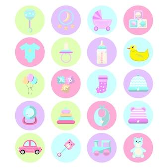 Coleção de ícone de bebê