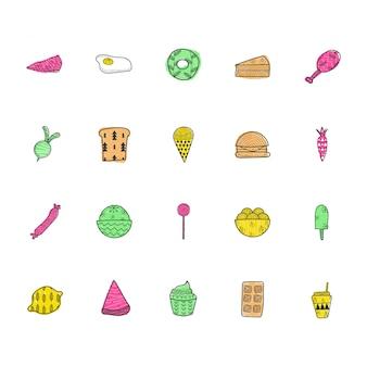 Coleção de ícone de comida