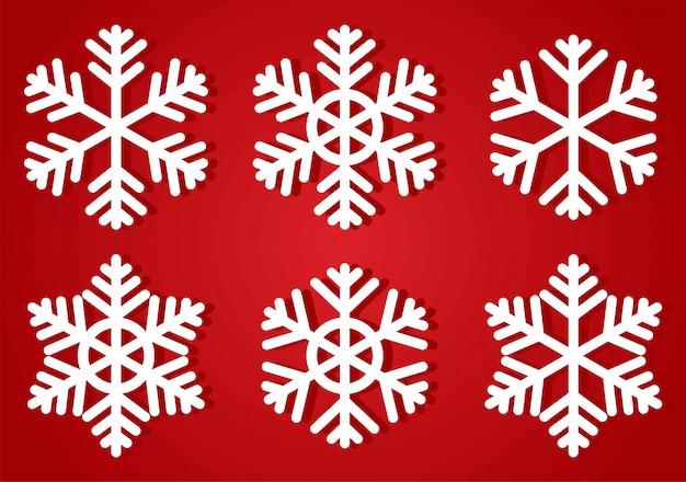 Coleção de ícone de flocos de neve.