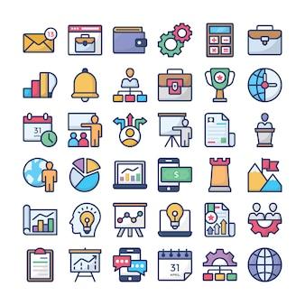Coleção de ícone de gestão de negócios