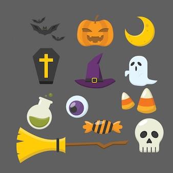 Coleção de ícone de halloween