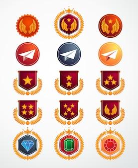 Coleção de ícone de nível