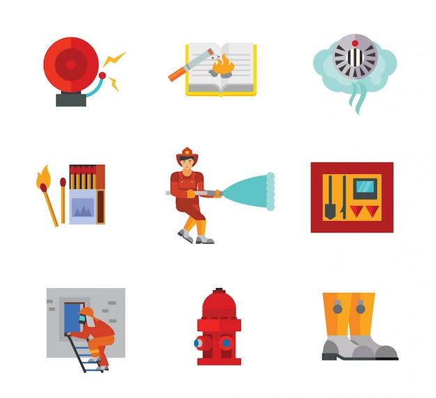 Coleção de ícone do bombeiro