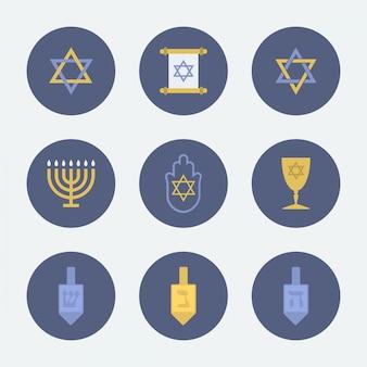 Coleção de ícone judaico