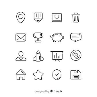 Coleção de ícone para cartão de visita