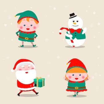 Coleção de ícones com o tema natalino